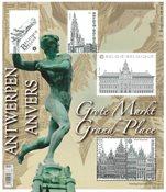 Belgique - Grand-Place à Anvers - Bloc-feuillet neuf