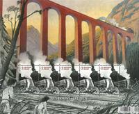 Belgique - Trains - Timbre neuf - mouvementé avec votre smartphone
