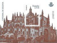 Spanien  - Segovias Domkirke - Postfrisk miniark