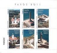 Spanien - Fyrtårne - Postfrisk miniark