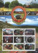 Isle of Man - Jernbaner - Stemplet miniark