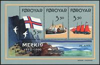 Færøerne - AFA 194- 96 - Postfrisk miniark