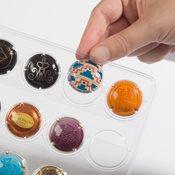 5 recharges transparentes COMPART pour 35 plaques de muselet/capsules de bi