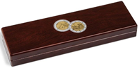 Small coin box VOLTERRA, for 5x2-Euro comm. coins(Niedersachsen) in capsules