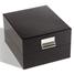 Boîte de rangement LOGIK, format intérieur 220 x 168 mm, noir