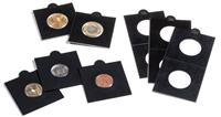 Møntholdere MATRIX sort 22,5 mm selvklæbende - Leuchtturm