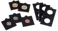 Cartones de monedas MATRIX, negro, diámetro 27,5 mm, autoadhesivos, 25 unidades