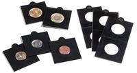 Cartones de monedas MATRIX, negro, diámetro 30 mm,  autoadhesivos, 25 unidades