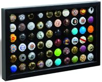 FINESTRA P60 presentation frame for 60 champagne caps/bottle caps, black