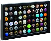 FINESTRA P60 presentation frame for 60 champagne caps/bottle caps, black