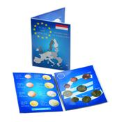 Carte de collection pour 1 Série de pièces d'1 Euro Pays-Bas