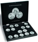 Coffret pour 20 monnaies Kookaburra argent en capsules, noir