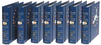 VISTA 5 Euro-Jahrgangs-Münzalben 1999 bis 2007, avec étui de protection, bl