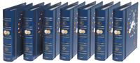 VISTA 5 Euro-Jahrgangs-Münzalben 2008 bis 2014, avec étui de protection, bl