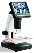 LCD digital microscope with 10/500x magnification