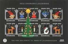 Danmark - Julemærket 2014 - Postfrisk selvklæbende miniark