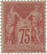Frankrig  1876 - YT 81 - Ubrugt