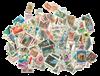 1500 francobolli differenti Italia