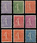 France 1924 - YT 197-205 - Neuf avec charnière