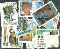 50枚不同鸟类专题盖销票 - 2002年邮折