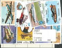 50枚不同汽艇或齐柏林飞艇专题盖销票