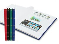 Stockbook - Assorted colors - Size A4 - 32 white pages