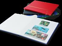 Indstiksbog - assorterede farver - str. A4 - 16 hvide sider - kunstlæder in