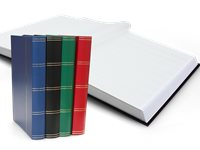 Stockbook - assorted colors - Size A4 - 64 white pages