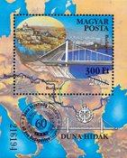 Ungarn - Donau overtryk - Postfrisk miniark
