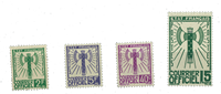 France - Service stamps Y&T 3+9+12+14