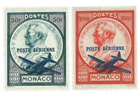 Monaco - 1946 - Y&T 13/14 luftpost postfrisk