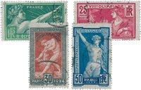 Frankrig 1924 - YT 183-86 - Stemplet