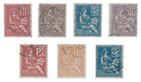 France 1900 - YT 112-18 - Cancelled