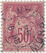 Frankrig 1876 - YT 98 - Stemplet