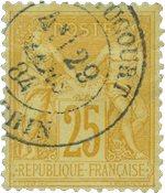 Frankrig 1876 - YT 92 - Stemplet - Ubrugt