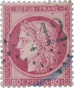 Frankrig 1871 - YT 57 - Stemplet