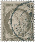 Frankrig 1871 - YT 56 - Stemplet