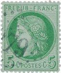 Frankrig 1871 - YT 53 - Stemplet