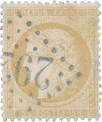Frankrig 1871 - YT 59 - Stemplet