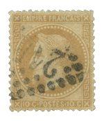 Frankrig 1863 - YT 28A - Stemplet