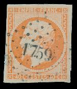 Frankrig 1853 - YT 16 - Stemplet