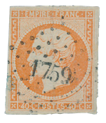 France 1853 - YT 16 - Oblitéré