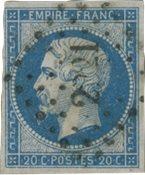 Frankrig 1853 - YT 14Af - Stemplet