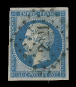 France 1853 - YT 14Af - Oblitéré