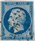 France 1853 - YT 14Aa - Oblitéré