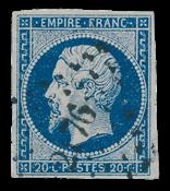 Frankrig 1853 - YT 14Aa - Stemplet
