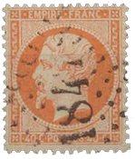 France 1862 - YT 23 - Oblitéré