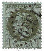 France 1863 - YT 25 - Oblitéré
