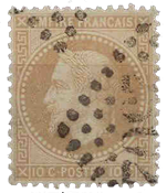 France 1863 - YT 28B - Oblitéré