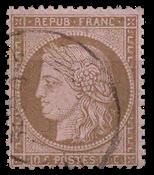 Frankrig - Stemplet Y&T 58